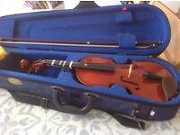 Child's violin, half size, with case