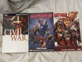 Marvel Comics: Cival War, Antman - Second Chance Man & Guardian of the galaxy - Cosmic Avengers