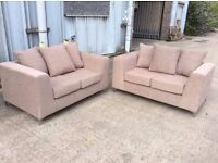 Pair of 2 Seat Sofas - Brand New - £299 Including Free Local Delivery