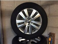 "17"" Alloy wheels to fit VW T5. Never used."