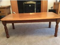 Coffee table in solid wood £25.00