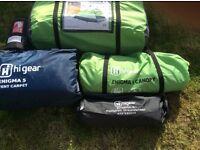 Tent,canopy,groundsheet,tent carpet & inflating mat