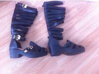 Women's knee high sandals