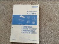 Jetski Workshop Manual for Yamaha XLT 800 for Jet Ski
