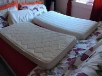 2 baby toddler matrasses 120/60 cm in perfect condition