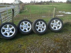 "Freelander 17"" alloy wheels x4 with tyres"
