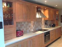 KITCHEN UNITS IN CHERRY with WORKTOPS! EXCELLENT CONDITION