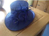 Royal blue formal hat