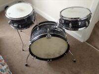 Drums black oyster kit