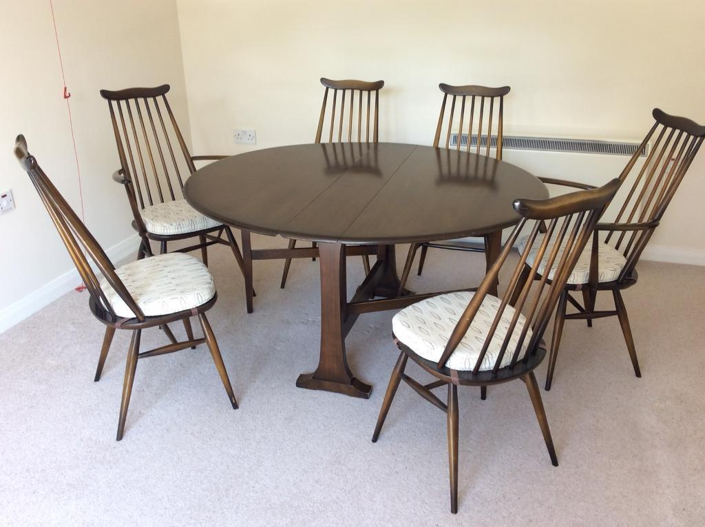 Swell Ercol Round Dining Table 6 Chairs Used In Inverness Highland Gumtree Download Free Architecture Designs Salvmadebymaigaardcom