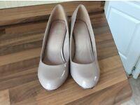 Next patent shoes size 4.5 wide fit