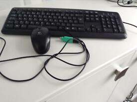 Keyboard & Logitech Mouse