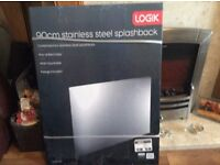 Brand New Logik 90 cm Stainless Steel Splashback