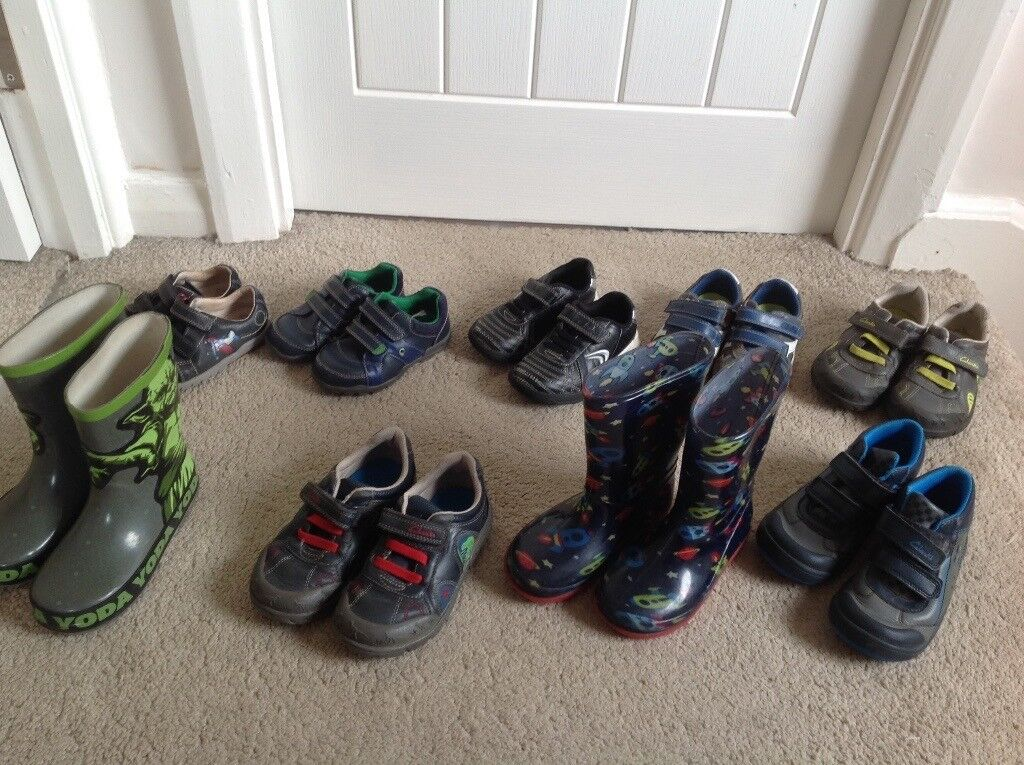 Boys shoes, boots and wellies. Various prices and sizes.