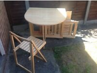 Compact Folding Table and 4 Chairs