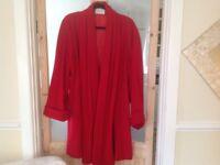 Lovely Red Wool Coat by Ann Harvey
