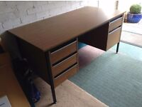 Solid, great quality wooden and metal desk for sale