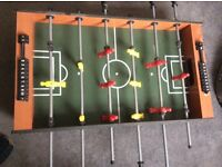 Football table and pool table