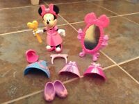 Minnie Mouse Fashion Dress Up Doll and accessories