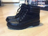 New Look black boots, wide fit, size 4