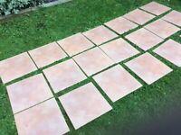 Tiles, floor tiles 19 tiles size 33 cm x 33 cm, terracotta colour, see photos £5
