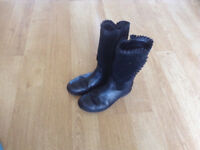 Clarks girl's school boots size 12.5