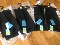 M&S BLACK SLIM LEG SCHOOL TROUSERS size 7-8 years NEW WITH TAGS