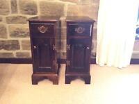 Pair of Oak Bedside Pot Cupboards