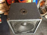 Pro Sound ( Maplins ) 15 inch Bass Bin