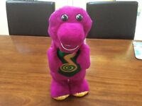 Singing & dancing Barney the dinosaur with baby bop and bj