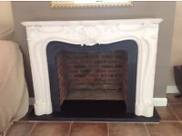 Ornate stone resin fire surround