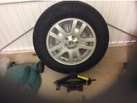 Brand new 4x4 tyre, Alloy and Jack