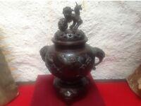 Spelter insence/urn