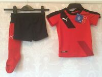 (RRP £38) Rangers Football Kit [3-Part Set] Shirt, Shorts & Socks by PUMA 1 - 2 Years Brand New