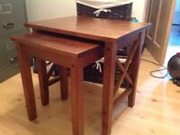 Set of wood tables