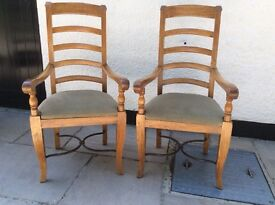 Barker & Stonehouse Flagstone dining chairs, 2 carver chairs, 4 other chairs