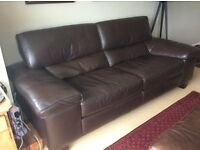 Sofa italian leather, 3 years old good condition