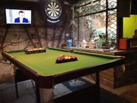 Solid slate 6x4 fold up Pool Table