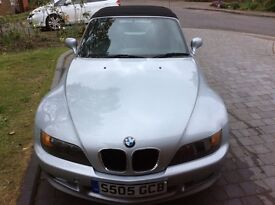 BMW Z3 1998 silver, red leather interior, 105,000 miles, comprehensive service history,