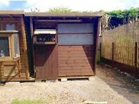 ECO Pigeon Loft.3 Year old. 8x6 heavy duty pent loft with trap.