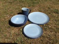 Blue Denby dinner casual dinner set, 6 place settings
