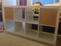 High white gloss shelving unit/bookshelf