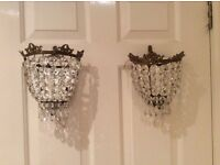 Vintage crystal lights