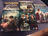 5 Harry Potter DVDs