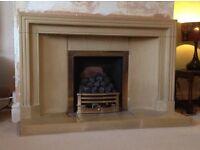 Stone Minster fireplace