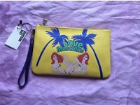 Auth moschino summer holiday clutch pouch new with tag