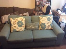 DFS 3 seater sofa - Duck egg blue