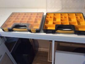 Plastic organiser boxes