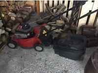 Used petrol mountfield lawnmower