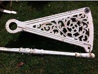 white cast iron Victorian spiral staircase